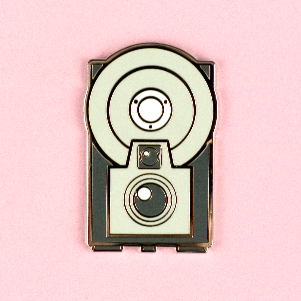 Vintage Cameras - Kodak Starflash Brownie Pin - Flea Circus Designs