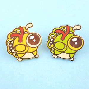 Caterpie Pin - Flea Circus Designs