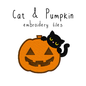 Cat and Pumpkin - Flea Circus Designs