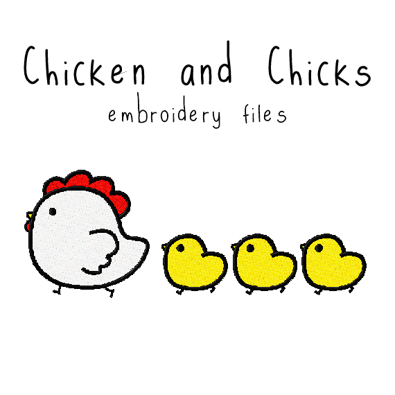 Chicken and Chicks - Flea Circus Designs