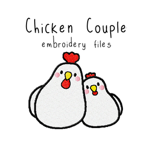 Chicken Couple - Flea Circus Designs