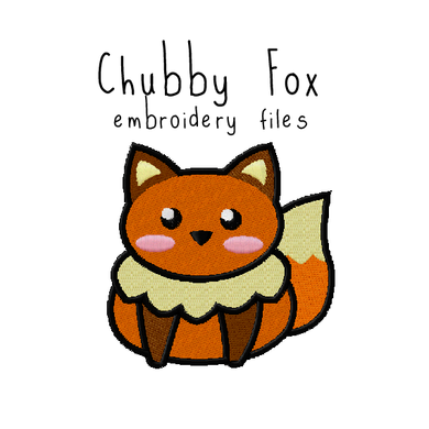 Chubby Fox (with and without outline) - Flea Circus Designs