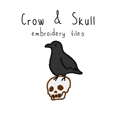 Crow and Skull - Flea Circus Designs