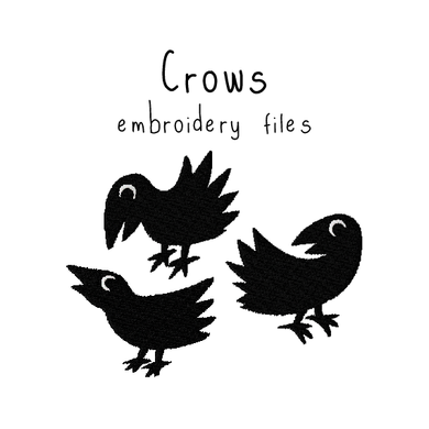 Crow Set - Flea Circus Designs