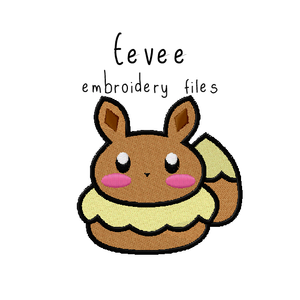 Eevee (with and without outline) - Flea Circus Designs