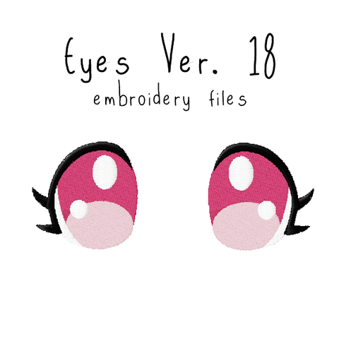 Anime Plushie Eyes Ver. 18 - Flea Circus Designs