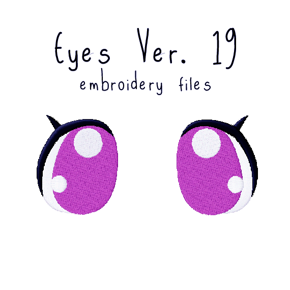 Anime Plushie Eyes Ver. 19 - Flea Circus Designs