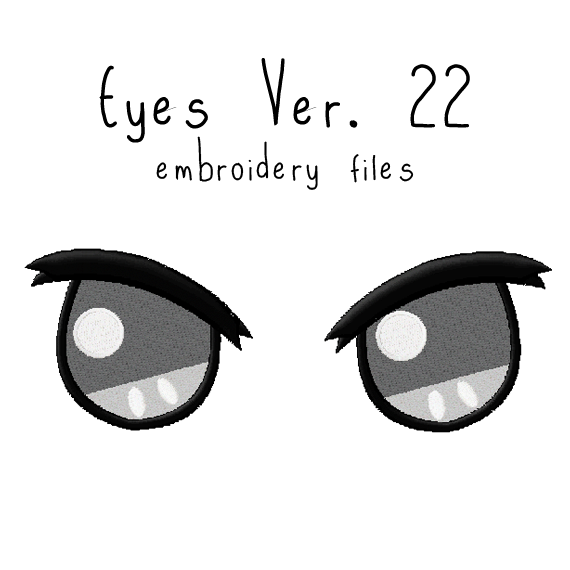 Anime Plushie Eyes Ver. 22 - Flea Circus Designs