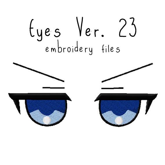 Anime Plushie Eyes Ver. 23 - Flea Circus Designs