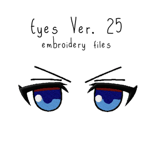 Anime Plushie Eyes Ver. 25 - Flea Circus Designs