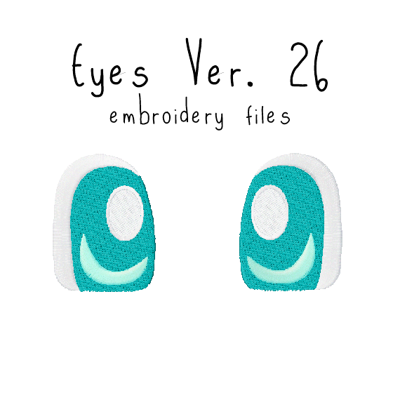 Anime Plushie Eyes Ver. 26 - Flea Circus Designs