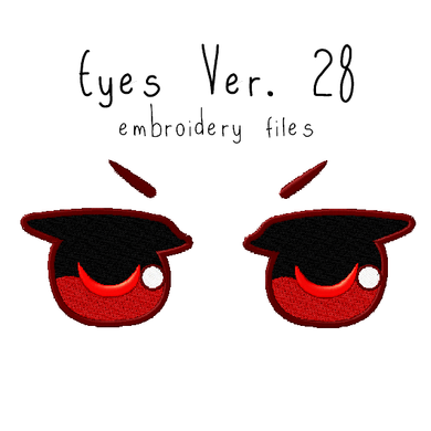 Anime Plushie Eyes Ver. 28 - Flea Circus Designs