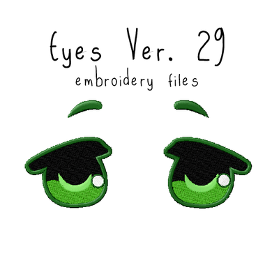 Anime Plushie Eyes Ver. 29 - Flea Circus Designs