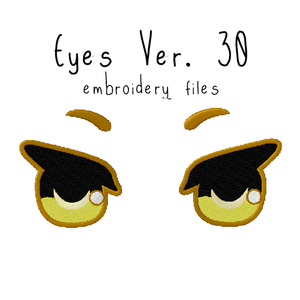 Anime Plushie Eyes Ver. 30 - Flea Circus Designs