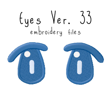 Anime Plushie Eyes Ver. 33 - Flea Circus Designs