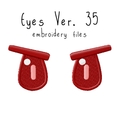 Anime Plushie Eyes Ver. 35 - Flea Circus Designs