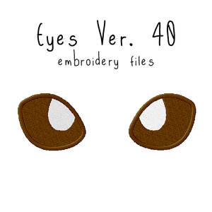 Anime Plushie Eyes Ver. 40 - Flea Circus Designs