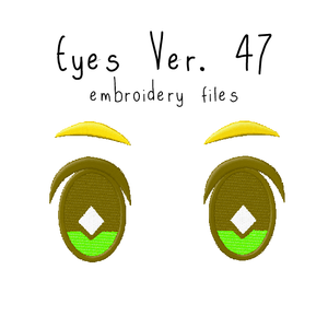 Anime Plushie Eyes Ver. 47 - Flea Circus Designs