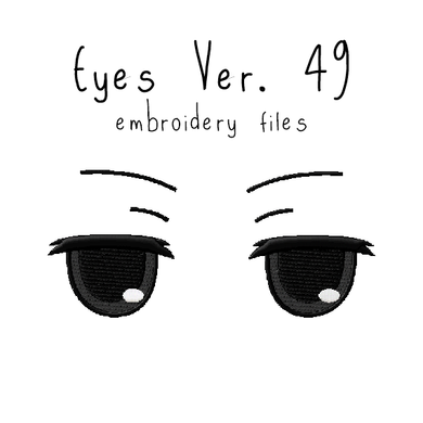 Anime Plushie Eyes Ver. 49 - Flea Circus Designs