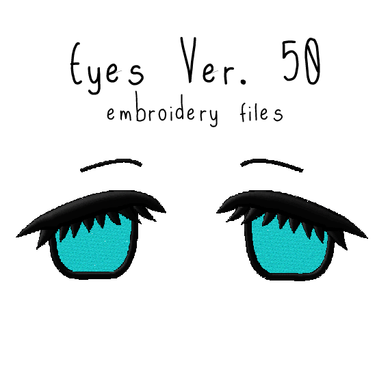 Anime Plushie Eyes Ver. 50 - Flea Circus Designs