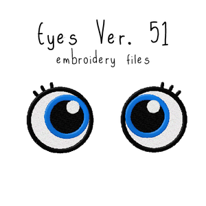 Anime Plushie Eyes Ver. 51 - Flea Circus Designs