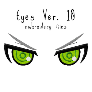 Anime Plushie Eyes Ver. 10 - Flea Circus Designs