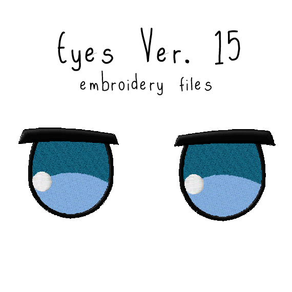 Anime Plushie Eyes Ver. 15 - Flea Circus Designs