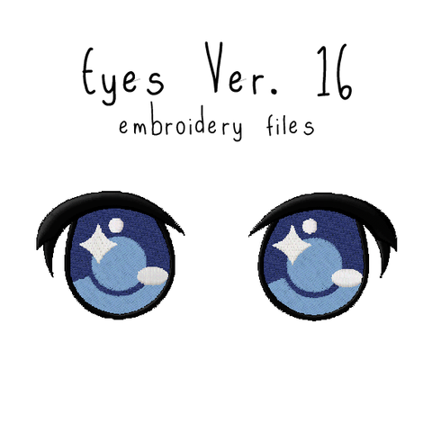 Anime Plushie Eyes Ver. 16 - Flea Circus Designs