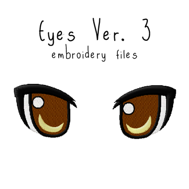 Anime Plushie Eyes Ver. 3 - Flea Circus Designs