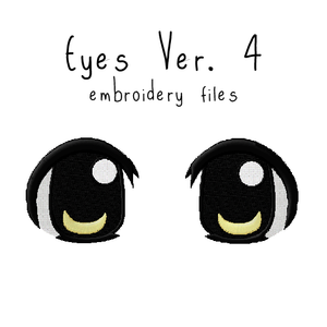 Anime Plushie Eyes Ver. 4 - Flea Circus Designs