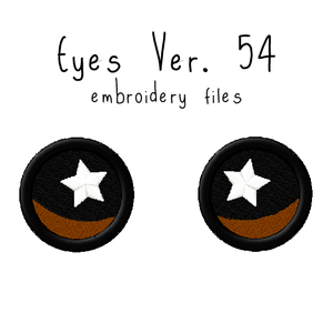 Anime Plushie Eyes Ver. 54 - Flea Circus Designs