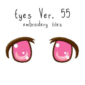 Anime Plushie Eyes Ver. 55 - Flea Circus Designs