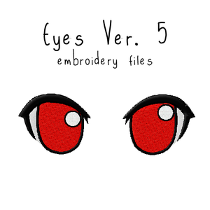Anime Plushie Eyes Ver. 5 - Flea Circus Designs