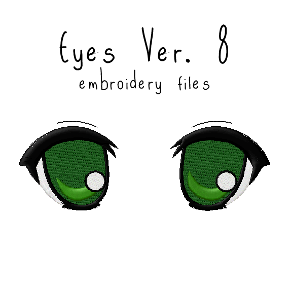 Anime Plushie Eyes Ver. 8 - Flea Circus Designs