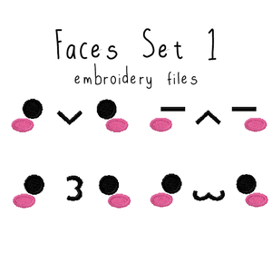 Faces Set 1 - Flea Circus Designs