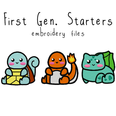 Pokemon Starters - Flea Circus Designs