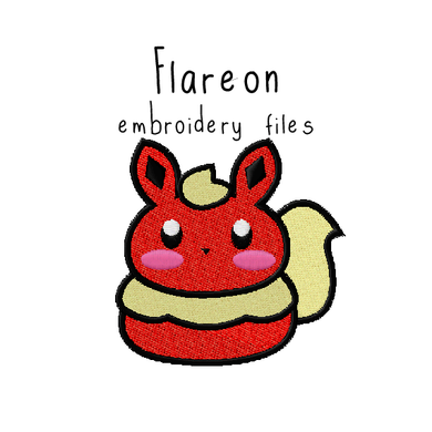 Flareon (with and without outline) - Flea Circus Designs