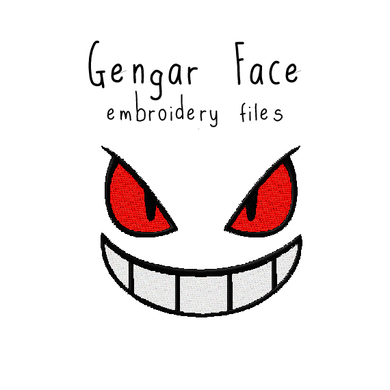 Gengar Face - Flea Circus Designs