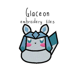 Glaceon (with and without outline) - Flea Circus Designs