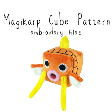 ITH Magikarp Cube Plushie (in-the-hoop) - Flea Circus Designs