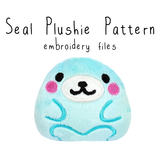 ITH Seal Plushie (in-the-hoop) - Flea Circus Designs