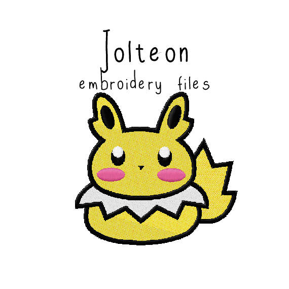 Jolteon (with and without outline) - Flea Circus Designs