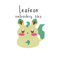 Leafeon (with and without outline) - Flea Circus Designs