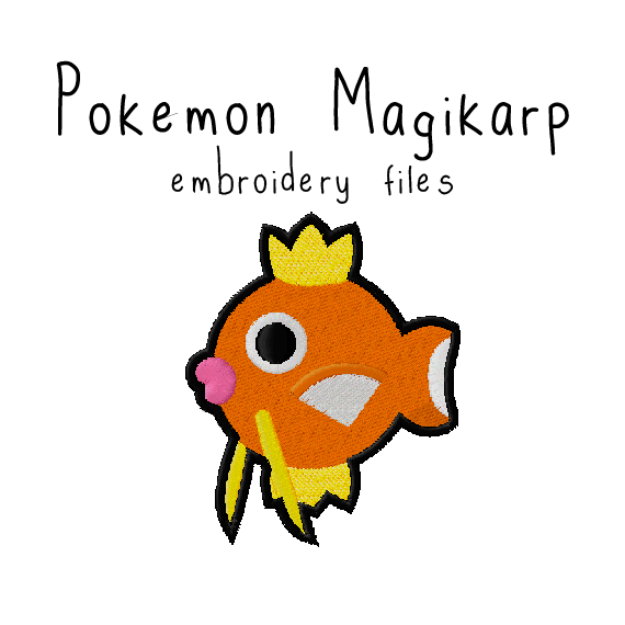 Magikarp (with and without outline) - Flea Circus Designs
