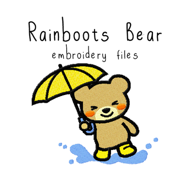 Rainboots Bear - Flea Circus Designs