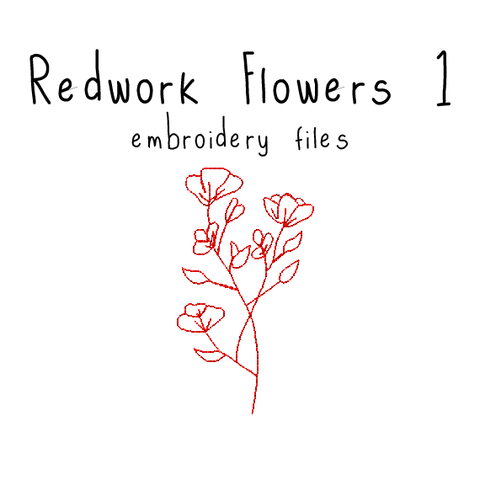 Redwork Flowers 1 - Flea Circus Designs
