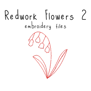 Redwork Flowers 2 - Flea Circus Designs