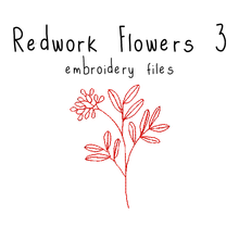 Redwork Flowers 3 - Flea Circus Designs