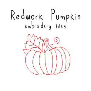 Redwork Pumpkin - Flea Circus Designs