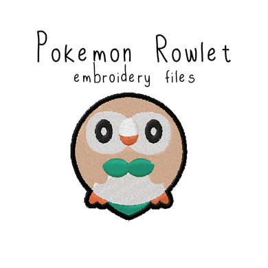 Rowlet (with and without outline) - Flea Circus Designs
